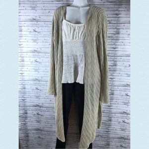 White Stag long sleeve split knit cardigan